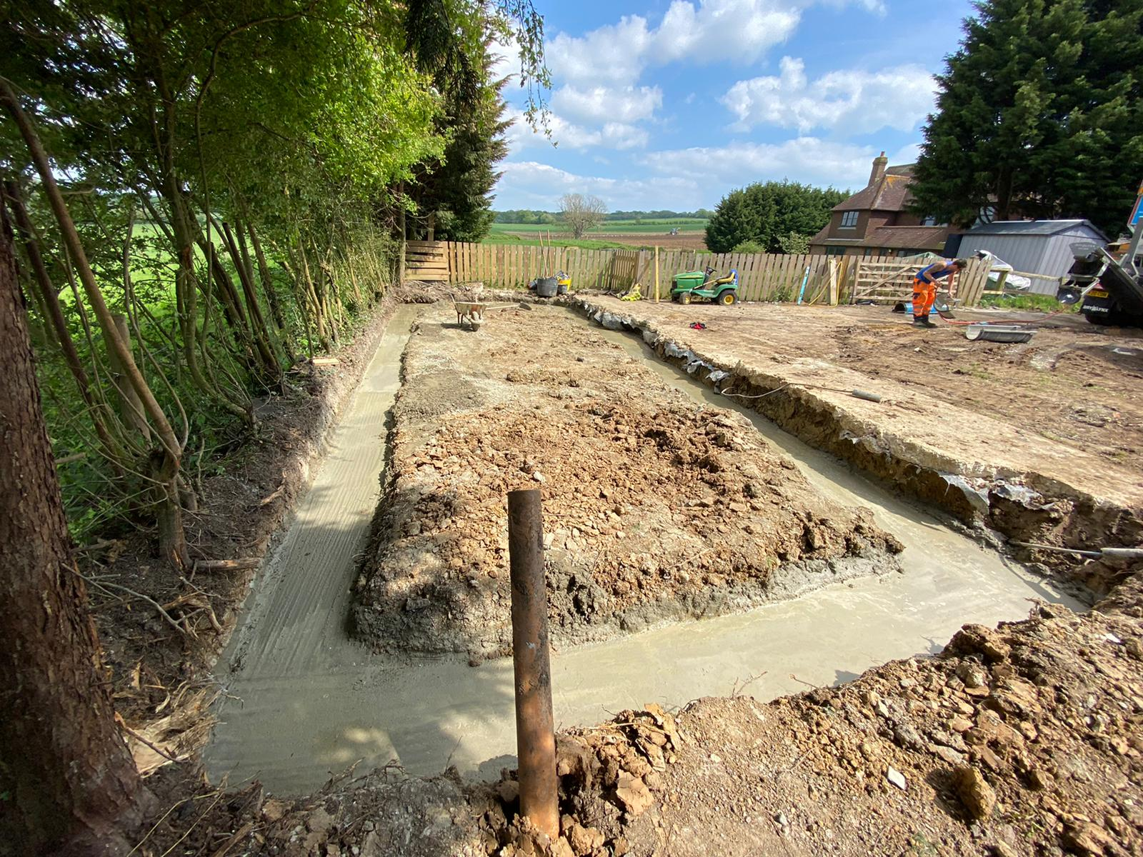 groundworks foundation for a wall